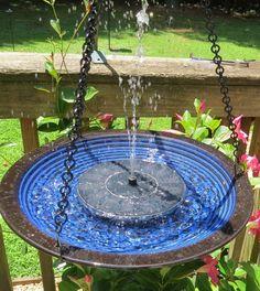 Solar Hanging Bird Bath …