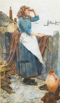 The fishers daughter by Walter Langley