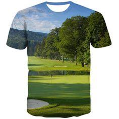 Golf T Shirts, 3d T Shirts, Printed Shirts, T Shirt Printer, City Streets, Exterior Colors, Fashion Prints, Lawn, Nature
