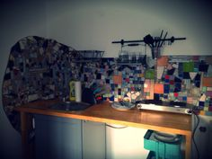 diy mosaik - guest house - kitchen Mosaics, Home Kitchens, Corner Desk, Diy, House, Furniture, Home Decor, Corner Table, Decoration Home