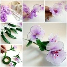DIY Beautiful Nylon Flowers from Pantyhose and Tights 3