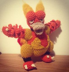 winnies_way:: Another one finished! How do you like Magmar? #pokemon #crochet…