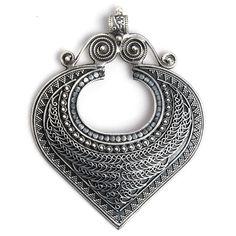 Pandantiv inimă Amare, argint, India