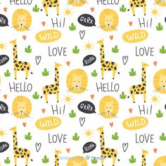 Colorful doodle giraffes and words patte. Background Banner, Geometric Background, Textured Background, Abstract Paper, Blue Abstract, Word Patterns, Print Patterns, Banners, Neon Backgrounds