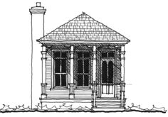 Allison Ramsey Architects | Floorplan for Clay Street Cottage - 931 square foot house plan # C0357