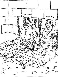 Paul And Silas Coloring Page Audio Bible Story Script