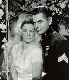 Eleanor Powell and Glenn Ford on their wedding day: