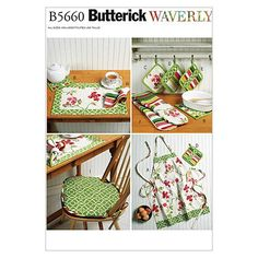 Butterick Patterns B5660 Apron, Hot Pads, Pot Holders, Place Mat, Napkin and Seat Cushion, All Sizes BUTTERICK PATTERNS,http://www.amazon.com/dp/B005HAWQGO/ref=cm_sw_r_pi_dp_W7T3sb0DVYS3ZWMX