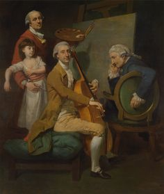 Johan Joseph Zoffany, Self-Portrait with His Daughter Maria Theresa, James Cervetto, and Giacobbe Cervetto, c. 1780. Yale Center for British Art, Paul Mellon Collection
