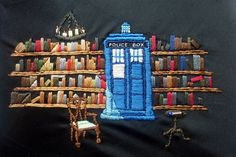 The TARDIS at Spinner's End by aalia7, via Flickr - look at the light cascading down from the chandelier! Brilliant!
