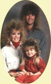 Big hair and mullets - this was such a bad time for hair. LOL