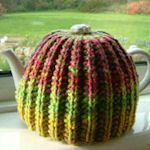Just finished this tea cozy -- is this cute or what!!  Easy to make. Ruby Ragar for you