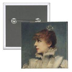 Sarah Bernhardt 1875 Button