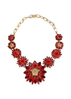a80727d65b9 Blooming Medusa Necklace Versace Fashion
