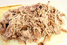super tasty pulled pork (soaks in a brine over night)-- doesn't even need bbq sauce to be spicy and delicious. (p.s. I made it in a crockpot instead of the oven, and it worked fine.)