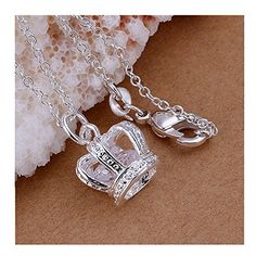 * Penny Deals * - Fashion Jewerly Sterling Silver Plated Elegant Beautiful Crown Pendant 925 -- For more information, visit image link.