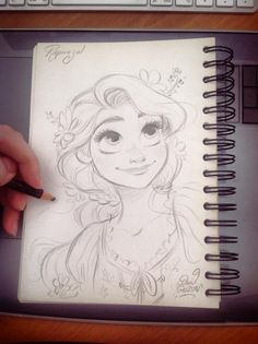 Quick Disney's Rapunzel sketch by princekido.deviantart.com on @DeviantArt