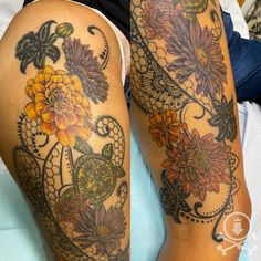 Beautiful floral and lacey thigh tattoo by Meghan Patrick. #12ozstudios #team12oz #tattoo #tattoos #tattooed #tattooing #tattooism #tattooart #tattooartist #tattooer #tattooist #art #artstudio #tattooshop #tattoostudio #ink #inked #colortattoo #colortattoos #thightattoo #thightattoos #flower #flowers #flowertattoo #flowertattoos #floraltattoo #floraltattoos #lacey #laceytattoo #laceytattoos