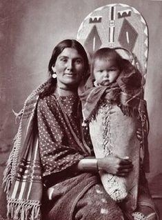 BANNOCK WOMAN AND CHILD , circa 1898