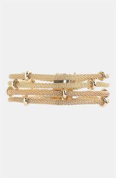 Anne Klein Multi Row Mesh Bracelet - Anne, bracelet, Klein, Mesh, Multi - http://designerjewelrygalleria.com/anne-klein-jewelry/anne-klein-multi-row-mesh-bracelet/