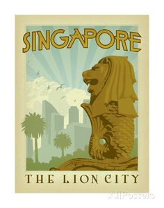 Singapore: The Lion City Art Print