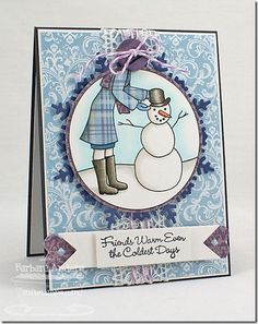 Who's That Girl Snowman (MFT)  Paper: Steel Gray card stock, Sweet Tooth card stock (MFT); Winter Wishes (Echo Park)  Ink: Memento Tuxedo Black   Accessories/tools: Vagabond; Die-namics Snowflake Doily, Die-namics Mini Double Dot Border, Die-namics First Place Award Ribbon, Die-namics Circle STAX, Lilac baker's twine, Grape Jelly button (MFT); foam dots, Copic markers, lace