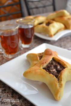 "Lebanese meat pies ""sfeeha""  I just love making appetizers for Christmas!  Love the looks of these ones.."