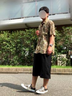 GUのレディースのワイドパンツをガウチョくらいに裾上げして着てます✨ GUはよくセールとかでパンツが