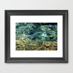 Water surface (3) Framed Art Print by Angela Bruno