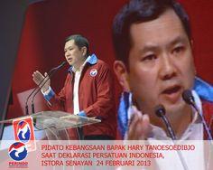 Pidato Kebangsaan Bapak Hary Tanoesoedibjo saat  Deklarasi Persatuan Indonesia (PERINDO) di Istora Senayan Jakarta, 24 Februari 2013
