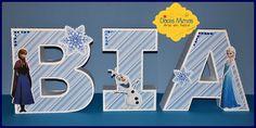 Letras em 3d - Frozen