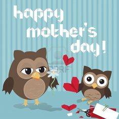 mother-s-day-owl-cute-illustration-of-happy-mother-and-kid-owl-crafting-origami-hearts.jpg (400×400)