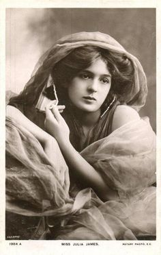 English stage actress Julia James, subject of many portrait photographs // by by Bassano Limited