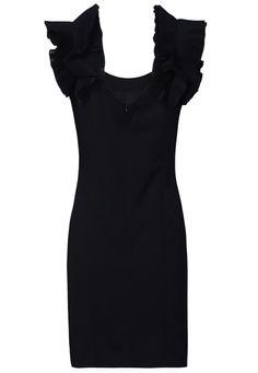 Backless Ruffle Pleated Dress