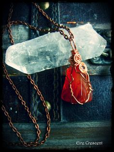 Red Agate Necklace by EireCrescent on Etsy, $22.99 Love the red colour!