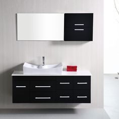 Design Element DEC1101 Springfield 53 In. Single Bathroom Vanity Set    DEC1101
