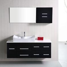 Design Element DEC1101 Springfield 53-in. Single Bathroom Vanity Set - DEC1101