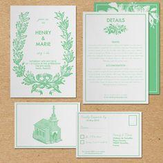 Printable Wedding Invitations DIY Vintage Wedding Set - The Rose Print Suite