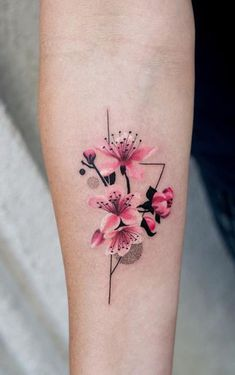 BeautifulDelicate Watercolor Cherry Blossom Forearm Tattoo Ideas for Women - ide. - BeautifulDelicate Watercolor Cherry Blossom Forearm Tattoo Ideas for Women – ideas delicadas del - Floral Tattoo Design, Flower Tattoo Designs, Tattoo Designs For Women, Tattoos For Women, Delicate Flower Tattoo, Flower Tattoo Back, Flower Tattoos, Butterfly Tattoos, Forearm Tattoos