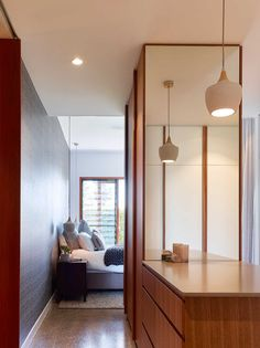 Dover house is a project that involves the fusion of a traditional Queenslander and a concrete garden room. Vernacular Architecture, Architecture Design, Dover House, Brisbane Architects, Home Bedroom, Bedrooms, Residential Interior Design, Beautiful Homes, House Design