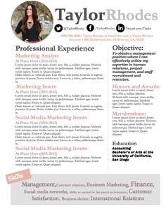 Social Media Twitter LinkedIn Facebook icons Resume and Cover Letter Instant Microsoft Word Download Resume Template