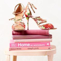 Floral shoes and a few good books, summer is coming up roses!