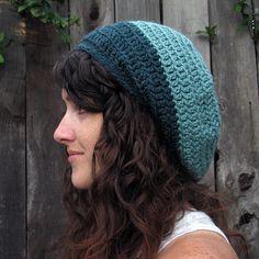 Ravelry: Gumdrop Slouchy Hat pattern by Julie King Crochet Slouchy Hat, Knit Or Crochet, Cute Crochet, Single Crochet, Knitted Hats, Crochet Hats, Basic Crochet Stitches, Crochet Patterns, Crochet Ideas