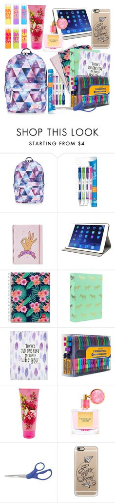 """Back To School: Supplies Edition"" by thebaddestasitgets ❤ liked on Polyvore featuring Accessorize, Paper Mate, M-Edge, Maybelline, Betsey Johnson, Victoria's Secret, Casetify, backpacks, contestentry and PVStyleInsiderContest"
