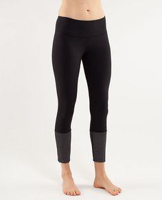 Awesome workout leggings...the bottoms fold up (& have an iPod pocket...not sure why). Paired with compression socks...and your ready to ROCK the gym!
