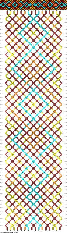 A friendship bracelet pattern website! Making Friendship Bracelets, Diy Friendship Bracelets Patterns, Bracelet Knots, Macrame Bracelets, Diamond Bracelets, Pandora Bracelets, Bangles, String Bracelet Patterns, Micro Macramé