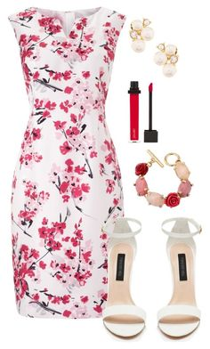 """""""flower lady"""" by deliag ❤ liked on Polyvore featuring Precis Petite, Oscar de la Renta, Jouer and Anne Klein"""