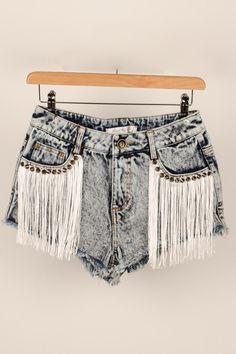 #fringe #denim #shorts #hotpants