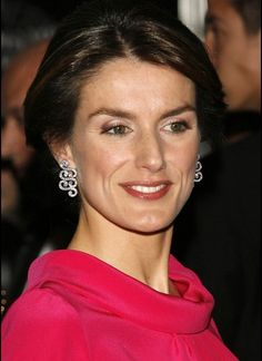 Princess Letizia and Cartier Secrets De Boudoir Diamond Earrings