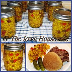 When you have just too much sweet corn, this is an easy canning recipe to try. It& also good when you don& have enough corn because fro. Cucumber Relish Recipes, Corn Relish Recipes, Corn Recipes, Recipies, Salsa Recipe, Canning Corn, Easy Canning, Canning Recipes, Canning Pickles